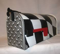 Wall Mount Mailbox With Flag New Hand Painted Racing Checkered Flag Mailbox Nascar