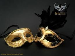 gold masquerade mask fancy feather masks masquerade mask studio