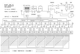 midi keyboard circuit diagram circuit and schematics diagram