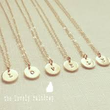 customized charms sale tiny customized initial 9mm disc necklace in gold