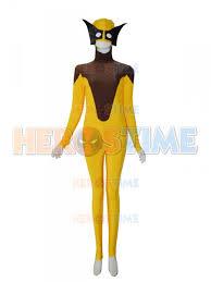 Halloween Costumes Wolverine Men Yellow U0026 Brown Superhero Costume