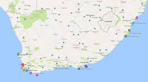 Map Of South Africa by South Africa Lighthouse Safari Us Lighthouse Society