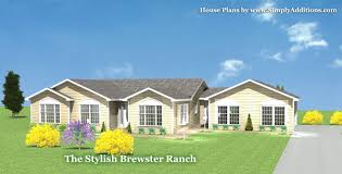 Single Story House Plans With Inlaw Suite by Brewster Modular Ranch House