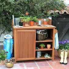 potting bench with storage small size of outdoor potting bench