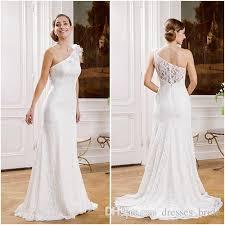 one shoulder wedding dress cheap unique one shoulder wedding dresses for flowers