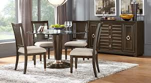 dining room sets michigan cindy crawford home michigan avenue brown 5 pc round dining room