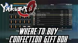 where can i buy a gift box to buy the confection gift box in yakuza 0