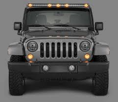 jeep kc lights quadratec j5 led light bar with amber clearance cab lights