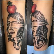 blindfolded with apple done by matt at house of stylez in