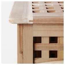 table with storage ikea hol storage table acacia 98x50 cm ikea