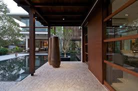 timeless contemporary house with courtyard zen garden