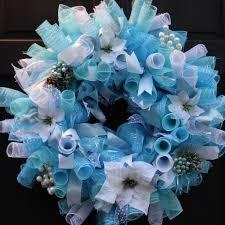 White Deco Mesh Winter Deco Mesh Wreath With White Poinsettias Pine Cones U0026 Berries