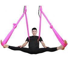 pellor deluxe flying yoga hammock for aerial yoga hammock pink
