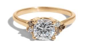 cushion ring asymmetrical avens ring with cushion cut diamond bario neal