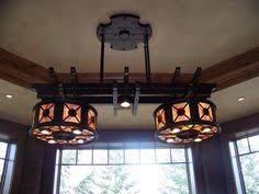 Adirondack Chandeliers Adirondack Rustic Billiards Table Chandelier From