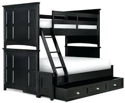 Black Wooden Bunk Beds Black Wood Bunk Beds With Desk Crossroads