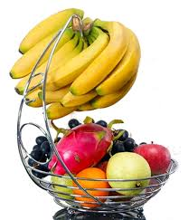 Unique Fruit Bowl Amazon Com Beautybuddys Fruit Basket With Banana Holder Chrome