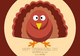 flat style happy thanksgiving turkey illustration