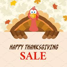 turkey with thanksgiving sale sign illustrations creative market