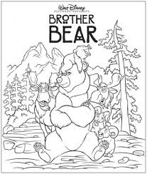 brother bear coloring page google search letter b pinterest with