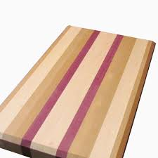 buy a hand made cherry maple and purple heart cutting board made