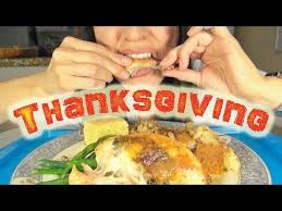 thanksgiving special asmr mukbang show home cooked
