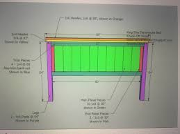 Farmhouse Bed Plans King Size Bed Frame Build With Basic Tools And About 300 To 400