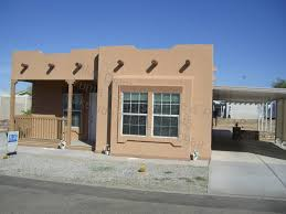 want desert look here beautiful stucco manufactured home uber