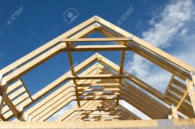 Wooden Roof Finials by A New Build Roof With A Wooden Truss Framework Making An Apex
