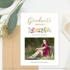 graduation announcements template high school graduation invitation template for photographers gd171
