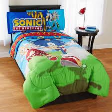 Sonic Duvet Set Sonic Speed Microfiber Reversible Comforter Walmart Com