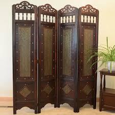 Ebay Room Divider - charleston room divider screen 4 panel wooden frame rustic decor