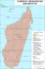 map comoros comoros madagascar and mayotte ethnologue
