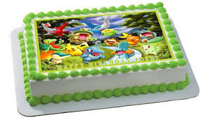 Pokemon Forest Edible Birthday Cake Or Cupcake Topper U2013 Edible