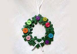 recycled puzzle wreath ornament puzzle pieces wreaths and ornament