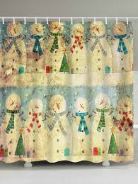 Snowman Shower Curtain Target by Christmas Snowman Family Waterproof Vintage Shower Curtain