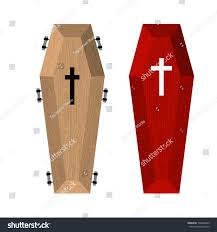 halloween casket set coffins red beautiful expensive coffin stock vector 306482825