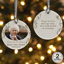 personalized photo memorial ornament in loving memory