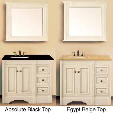 White Bathroom Vanity With Black Granite Top - stunning art 36 bathroom vanity with granite top mount vernon 36