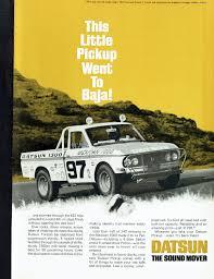 Vintage Ford Truck Decor - 1966 advertisement datsun pickup truck 60s baja 1000 off road