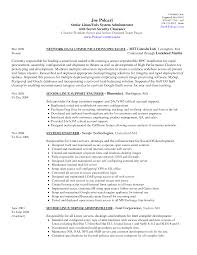 Windows System Administrator Resume Examples by Sfdc Developer Resume Resume For Your Job Application