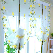Sunflower Yellow Curtains by Bathroom Cute Beautiful Kitchen Curtains Perfect Ideas Vintage