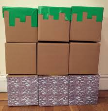 minecraft wrapping paper easy diy minecraft blocks celebrate the big small