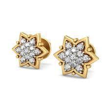 gold earring design diamond earrings designs real certified 0 32 ct gold workwear