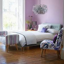 lilac color paint bedroom for teen with laminate wood flooring