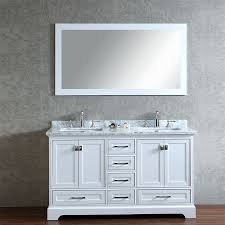 carolina 60 white double sink vanity by lanza stufurhome 60 newport white double sink bathroom vanity with mirror