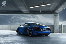 audi r8 chrome blue beautiful blue audi r8 v10 on modulare wheels gtspirit