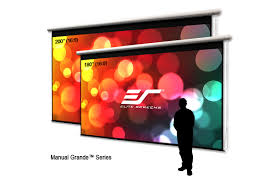 manual grande series manual projection screens elite screens
