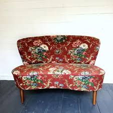Red Floral Sofa by Vintage Danish Floral Sofa The Joyful Home Company