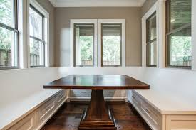 kitchen table with booth seating with classy white kitchen booth